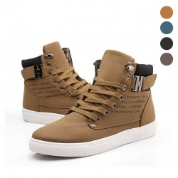 Sneakers Boot Cano Alto Men's Boot Casual Shoes Youth Fashion Leather