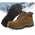 Male Climber Boot Leather sole and rubber lining Plush