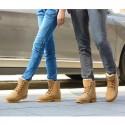Bota Couro Unisex Casual Fashion Moderna Cano Alto Calçado