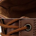 Sapatênis Sport Male Leather boots Brown and Navy Beautiful