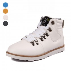 Sapatênis Boot Male Young Cano High Shoe White Skateboard Fashion