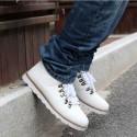 Sapatenis Bota Masculino Jovem Cano Alto Tenis Branco Skate Moda