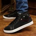 Sapatênis Boot Casual Male Jeans Cano Alto Fabric Fashion