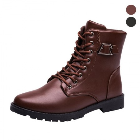 Boot Men Vaquejada Leather with Buckle Rodeo Country Farmer
