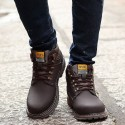 Unisex Boot in Soft Leather Tough and outsole Rubber