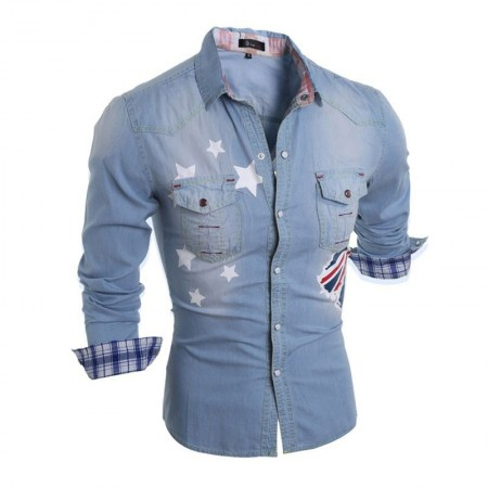 Shirt Jacket Jeans Casual Long Sleeve Men's Sports Comfortable