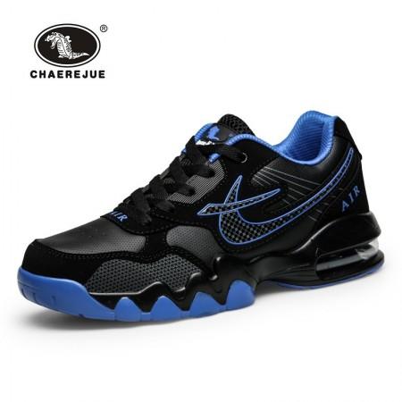 Tenis Running Esportivo Masculino com Amortecedor Preto Azul