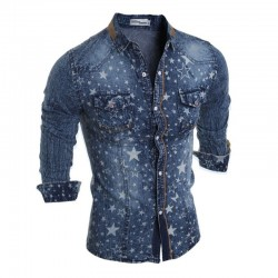 Shirt Jacket Jeans Casual Male Stars