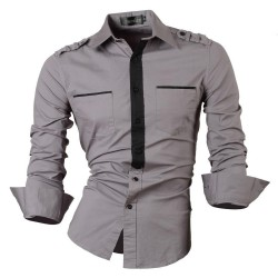 Shirt Men's Casual Army Social Party Long Sleeve