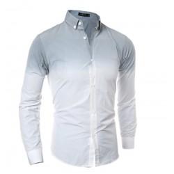 Camisa Casual Moderna Bonita Masculina Elegante Social Degrade