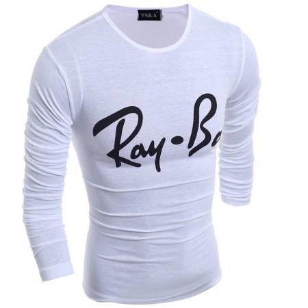 Camiseta Inverno Masculina Ray-Ban Casual Jovem Urbana Fina Longa