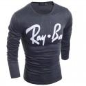 Shirt Winter Men's Ray-Ban Casual Young Urban Thin Long