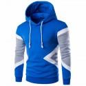 Moletom Geometrico Esporte Treino Frio com Capuz Moda Masculina