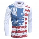 American shirt Winter Stamped Men's Flag