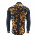 Vintage Floral Shirt Men's Navy Night Event
