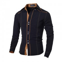 Social Shirt Men's Long Sleeve Button Country Style Jeans