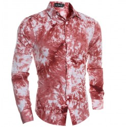 Men Textured shirt in Dye Smeared in Borronhes Estampa