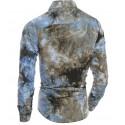 Camisa Texturizada Masculina em Tintura Manchada em Borronhes Estampa