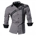 Casual Shirt Party Night Club Men's Stylish Stripes