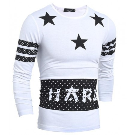 Stamped T Shirt Star Casual Paulista Menswear