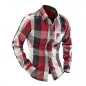Plaid Shirt Fashion Casual Male Country Party Club Calvalgada