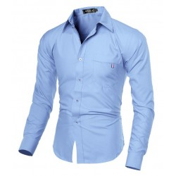 Camisa Social Lisa Legante Formal Masculina Executiva de Trabalho