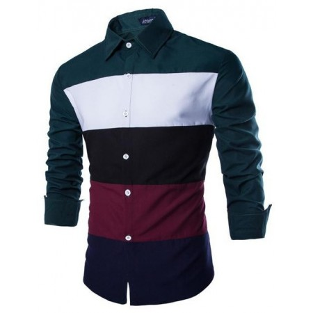Casual Shirt Men's Striped Elegant Party Social Club