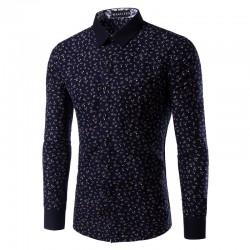 Social Estampa Floral Shirt Men's Casual Elegant Plus Size