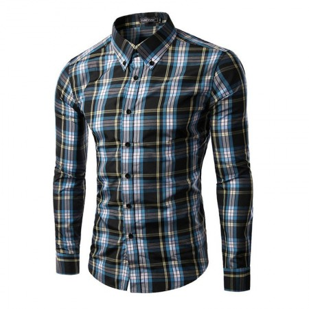 Shirt Casual Elegant Chess Men