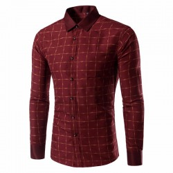 Camsia Social Classica Moderna Men's Casual Long Sleeve