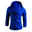 Hooded Male Modern Zippers Winter Fashion Hooded