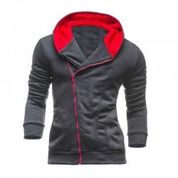 Moletom Masculino Moderno Fashion de Ziper Inverno com Capuz