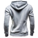 Hooded Casual Male Modern Cold Grey Patchwork without Hood