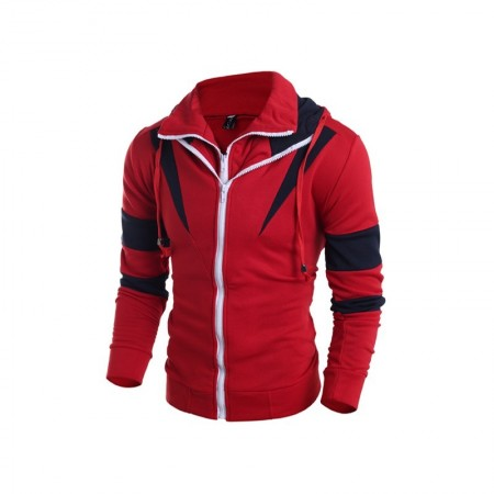Hooded Male Modern Casual Elegant Young Cold with Zippers