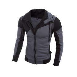 Hooded Zip Rider Winter Jacket Comfortable Long Sleeve