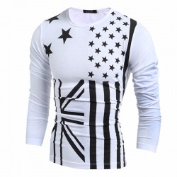 Winter Shirt Men's Casual Printed Long Sleeve Cold