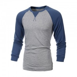 Camiseta Masculina de Inverno Manga Longa Estilo Suéter