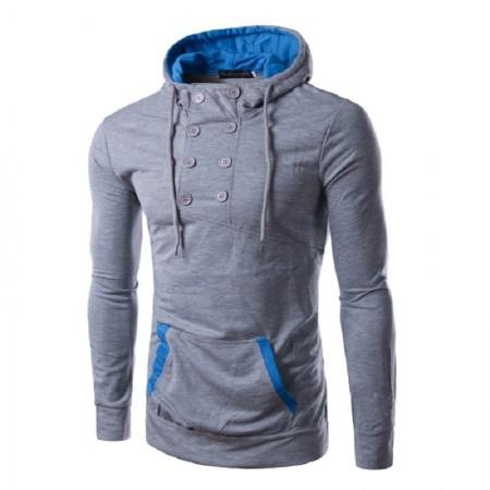 Moletom Casual Masculino de Inverno Moderno Moda Jovem com Capuz