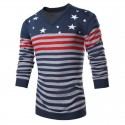 Shirt Polovêres Winter Men's Striped Long Sleeve Wool