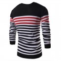 Shirt Polovêres Winter Men's Striped Long Sleeve Wool