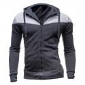 Jaqueta de Poluver Masculino Moletom Casual Casaco Esportivo Inverno