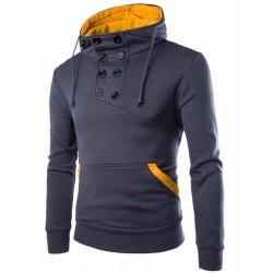 Moletom Casual Gola Olimpica Masculino de Inverno Blusão Manga Longa