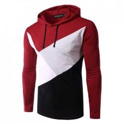Camiseta Moletom Masculino de Inverno Geométrico Casual de Frio Poluver