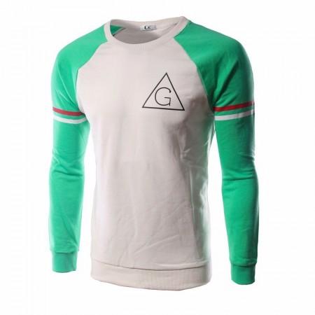 Camiseta Slim Fit Casual Masculina Verde Manga Longa Esporte Básica