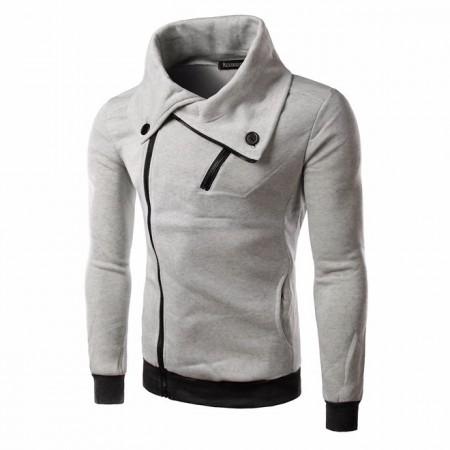 Hooded Male Fashion Stylish Zipper Neck Winter High