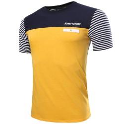 Camiseta Masculina T Listrada Casual Esporte Moderna Elegante Verão