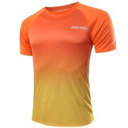 Camiseta Esporte Degrade Slim Fit Masculina Casual Top T Fina