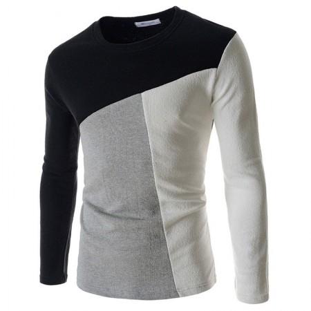 Camiseta Inglesa de de Lã Inverno Masculino Manga Longa Frio