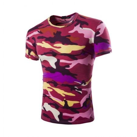 Camiseta Militar Americano Básica Masculina Camuflada Exército