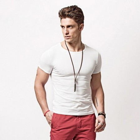 Smart Casual shirt Basic Men's Cold Cotton Summer Casual Soft